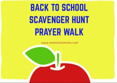 Back to School Prayer Walk Printable
